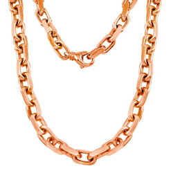 10k Yellow White Or Rose Gold Handmade Fashion Link Necklace 7.94mm Various Size