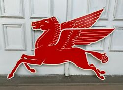 Mobil Gas Flying Red Horse Pegasus Metal Heavy Steel Sign Extra Large 35 Oil