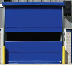 Commercial [9and039 X 10and039] Vinyl Pro Roll Up Door Using Spring Loaded | Fabric Door