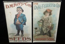 2x Vintage Framed Posters D.m Ferry And Co. Standart Seed For Sale Here Nil