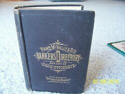 Rare 1st Edition 1885 Rand Mcnally Bankers' Directory List Of Attorneys Book Map