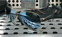 New Revo OBSERVER RE1033 04 BL Sunglasses Polished Gold w Blue Water Polarized