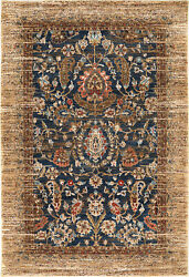 10and039 X 13and039 Karastan Machine Woven Area Rug Charax Gold Multi Traditional