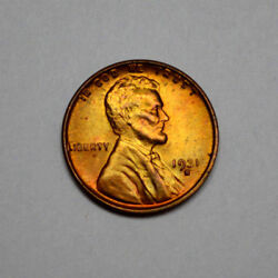 1931-s Rd Sharp Unc/ms Lincoln Wheat One Cent Penny Better Date Tough Rare