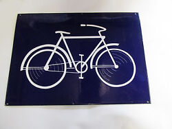 Vintage Porcelain Bicycle Bike Sign Extremely Rare And Valuable