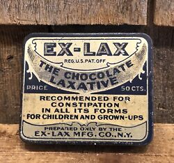 Vintage Old Ex-lax The Chocolate Laxative 50c Drug Store Advertising Tin