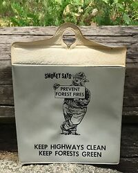 Vintage Smokey The Bear Says Prevent Forest Fires Keep Forests Green Holder Sign