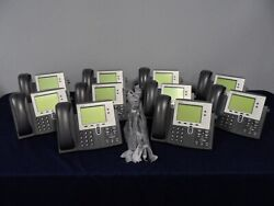Cisco Cp-7942g 7942 Series Unified Voip Ip Business Office Phone Lot Of 10x Qty
