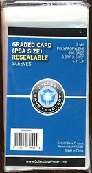 1200 New Csp Resealable Graded Card Slab Poly Sleeves Bags 3 3/8 X 5 1/2 Psa