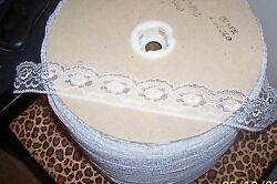 10 Yards Lace Trim White Silver 1 1 4quot; Wide New $5.95