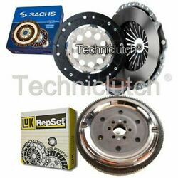 Sachs 3 Part Clutch Kit And Luk Dmf For Audi Cabriolet Convertible 1.8