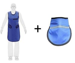 Brand New Set Of 2 X-ray Protective Blue Lead Apron With Thyroid Collar