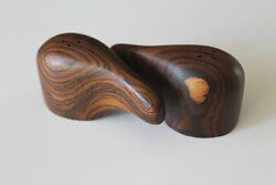 Mid Century Don Shoemaker Exotic Cocobolo Wood Saltandpepper Shakers Perfect