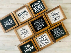 Adulting Sign Collection   Funny Wood Signs   Teacher Gift   Gift For Mom
