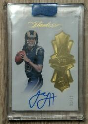 Jared Goff 2016 Panini Flawless Auto Rc Rookie Autographed 1/10 = Ebay 1/1