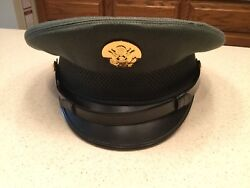 United States Military Hat Cap Wool Visor Green Size 7 1/4 Cap Services