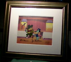 The Good, The Bad, And Huckleberry Hound - Production Animation Cel + Background