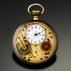 Valor Watch Co. Open Face Pocket Watch With Highly Engraved Movement
