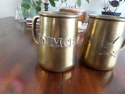 Military Memorabilia Fighting Hornets One Of A Kind Hand Made Brass Mugs.