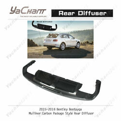 Carbon Lip Kit Fit For 15-18 Bentley Bentayga Mulliner-cp-style Rear Diffuser