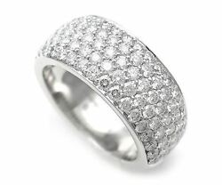 Cartier B4206750 Pave Diamond Ring Size #50 K18 White Gold Used Ex++