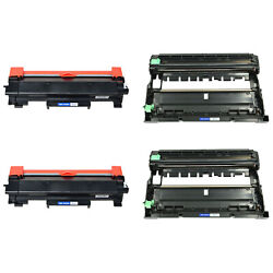 4PK TN760 Toner Cartridge DR730 Drum Unit for Brother MFC-L2710DW L2750DW WChip