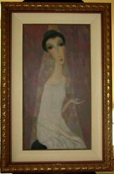 SERGEY SMIRNOV - FAVORITE BALL - ORIGINAL PAINTING ON CANVAS FRAMED - RUSSIAN