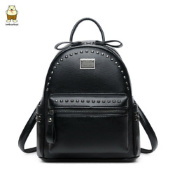 Women Fanshion Backpacks High Quality School Bags For Girls Lady Bags Rivet Bags $39.82