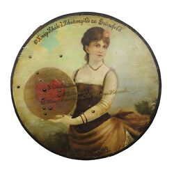 Antique Hand-painted Marksman King Target Plaque 1892