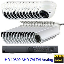 24channel 1080p Hdahd Tvi Dvr 2.8-12mm Lens 4-in-1 2.6mp Security Camera System