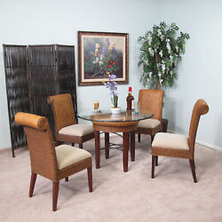 Rattan And Wicker 5 Piece Dining Furniture Set 2517-lg