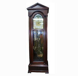 c023 Regina Moon Dial Tall Case Grandfather Clock- Local Pickup Only