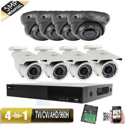 8ch All-in-1 Viedo Dvr 5mp 4-in-1 24and 36ir Leds Dwdr Security Camera Wifi Dnr 4j