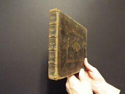 Rare Circa 1680 German Picture Bible With 185 Woodcuts