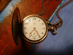 Vintage Omega Pocket Watch With Orig. Chain. Good Working Condition. Classic