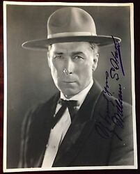 William S. Hart - Photograph Signed Silent Screen Cowboy Star