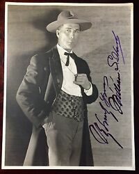 William S. Hart Photograph Signed Silent Screen Cowboy Star