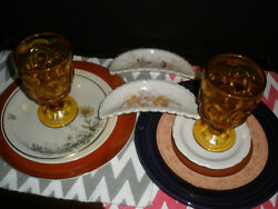Vintage 10 Piece Place Setting For 2, Mismatched China. Franconia, Steubenville