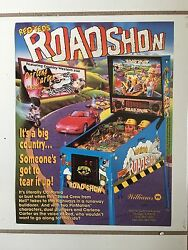 Roadshow By Williams Pinball Promo Brochure -1994 Vintage-new In Plastic.