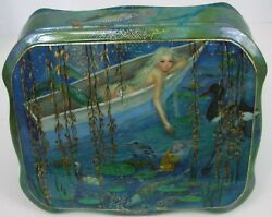 One Of A Kind Fedoskino Russian Lacquer Box Mermaid In A Pond By Maslov
