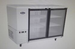 Atosa Mbb59g Refrigerated 59 Back Bar Cabinet With Glass Doors