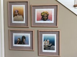 Set Of Four Ronnie Wood Rolling Stones Original Limited Edition Prints