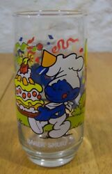 1983 Smurfs Baker Smurf Collector's Glass Cup