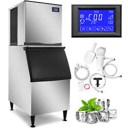 350 Lbs /24h Commercial Ice Maker Ice Cube Machine Ice Cream Water Filter Etl