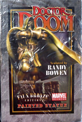 Dr. Doom Faux Bronze Statue By Bowen Designs Factory Sealed, New, Unopened