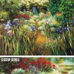 40wx30h Secluded Garden By Greg Singley - Garden Walkway - Choices Of Canvas