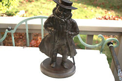 Tony Weller Coachman The Pickwick Papers Banksway Cast Iron Man With Stove Tool