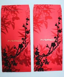 Lot Of 2 New Authentic Mac Limited Edition Chinese New Year Gilded Red Envelopes