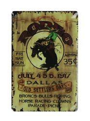 Rodeo Dallas old settlers days tin metal sign dorm room buy posters