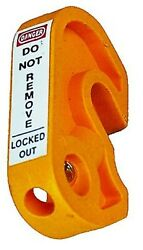 Extreme Safety Mini Lockout Device 45x25x10mm For Circuit Breaker Yellow